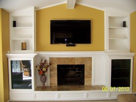 Canton Michigan Fireplace remodeling. Renovation.